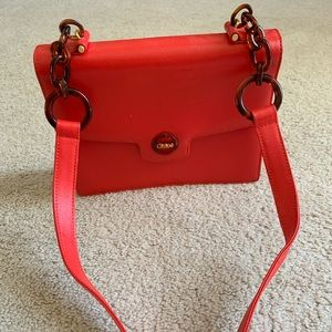Vintage Chloe Bright Red Bag circa 1960s